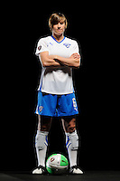 Amy LePeilbet of the Boston Breakers during a Women's Professional Soccer photo shoot in Brooklyn, New York on February 17, 2010.