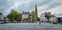 Pictured: Castle Square in Caernarfon. Saturday 02 November 2019<br /> Re: North Wales, UK.
