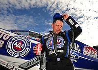Nov. 13, 2011; Pomona, CA, USA; NHRA funny car driver Robert Hight during the Auto Club Finals at Auto Club Raceway at Pomona. Mandatory Credit: Mark J. Rebilas-.