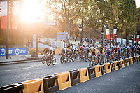sprint trains start forming in the last lap around the Champs-Élysées<br /> <br /> Stage 21 from Mantes-la-Jolie to Paris (122km)<br /> <br /> 107th Tour de France 2020 (2.UWT)<br /> (the 'postponed edition' held in september)<br /> <br /> ©kramon