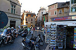 Piazza Trilussa in the Trastevere district of Rome.