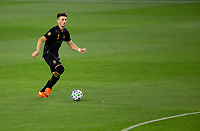 LOS ANGELES, CA - SEPTEMBER 02: Tristan Blackmon #27 of the LAFC moves with the ball during a game between San Jose Earthquakes and Los Angeles FC at Banc of California stadium on September 02, 2020 in Los Angeles, California.