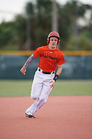 Aiden Hart (58), from Red Oak, Texas, while playing for the Orioles during the Baseball Factory Pirate City Christmas Camp & Tournament on December 29, 2017 at Pirate City in Bradenton, Florida.  (Mike Janes/Four Seam Images)