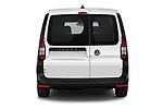 Straight rear view of 2021 Volkswagen Caddy-Cargo Maxi-Business 4 Door Cargo Van Rear View  stock images