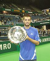 25-2-07,Tennis,Netherlands,Rotterdam,ABNAMROWTT, Mikhail Youzhny with the trophy