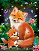 Catalea,Interlitho-Alfredo, CUTE ANIMALS, LUSTIGE TIERE, ANIMALITOS DIVERTIDOS, paintings+++++,2 foxes,KL4626,#ac#, EVERYDAY ,puzzle,puzzles