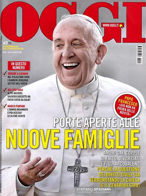 Pope Francis. Oggi Italian Magazine, <br /> Photo By Stefano Spaziani.