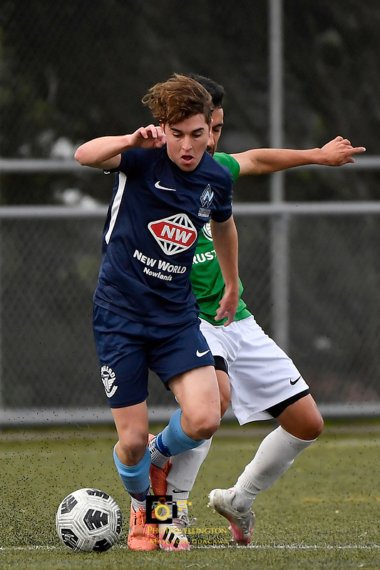 Cameron Mackenzie of the North Wellington FC during the Central League Football -  North Wellington FC v Wairarapa United at Alex Moore Park ( Alex Moore Artificial) / Johnsonville / New Zealand on Saturday 29 May 2021.<br /> Copyright photo: Masanori Udagawa /  www.photosport.nz