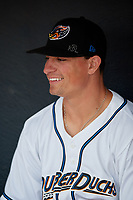 Akron RubberDucks Mitch Longo (30) before an Eastern League game against the Reading Fightin Phils on June 4, 2019 at Canal Park in Akron, Ohio.  Akron defeated Reading 8-5.  (Mike Janes/Four Seam Images)