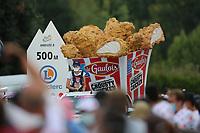 15th September 2020; Lyon, France; Tour De France 2020, La Tour-du-Pin to Villard-de-Lans, stage 16; Le Gaulois, Crousty chicken display in the caravan
