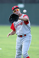 Williamsport Crosscutters outfielder Kelly Dugan (48) before the first game of a double header vs. the Batavia Muckdogs at Dwyer Stadium in Batavia, New York;  August 25, 2010.   Batavia defeated Williamsport 4-3.  Photo By Mike Janes/Four Seam Images