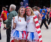 Montreal, Canada - June 30, 2015:  The USWNT defeated Germany  2-0 during the semifinals of the FIFA Women's World Cup at Olympic Stadium.