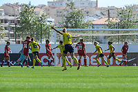20200307  Lagos , Portugal : Sweden scores 1-0 during the female football game between the national teams of Sweden and Denmark on the second matchday of the Algarve Cup 2020 , a prestigious friendly womensoccer tournament in Portugal , on saturday 7 th March 2020 in Lagos , Portugal . PHOTO SPORTPIX.BE | STIJN AUDOOREN