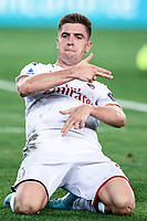 Krzysztof Piatek of AC Milan celebrates after scoring <br /> Verona 15/09/2019 Stadio Bentegodi <br /> Football Serie A 2019/2020 <br /> Hellas Verona - AC Milan <br /> Photo Image Sport / Insidefoto