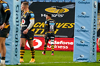 22nd November 2020; Ricoh Arena, Coventry, West Midlands, England; English Premiership Rugby, Wasps versus Bristol Bears; Juan de Jongh of Wasps is given a yellow card and walks off the pitch in the 48th minute