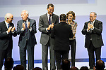 """The kings of Spain make delivery of accreditation to the new ambassadors fees """"Marca España"""" in his 6th edition to Joan Roca at BBVA City in Madrid, November 12, 2015.<br /> (ALTERPHOTOS/BorjaB.Hojas)"""