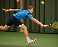 Rotterdam, The Netherlands, 07.03.2014. NOJK ,National Indoor Juniors Championships of 2014, 12and 16 years, Bart Stevens (NED)<br /> Photo:Tennisimages/Henk Koster