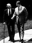 Israel Prime Minister Menachem Begin and President Ronald Reagan,
