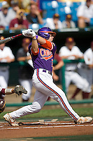 Clemson's Mike Freeman in Game 4 of the NCAA Division One Men's College World Series on Monday June 21st, 2010 at Johnny Rosenblatt Stadium in Omaha, Nebraska.  (Photo by Andrew Woolley / Four Seam Images)