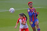Liga IBERDROLA 2020-2021. Jornada: 10<br /> FC Barcelona vs Santa Teresa: 9-0.<br /> Lidia Sanchez vs Asisat Oshoala.
