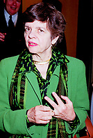 Montreal, June 1st, 1999 File Photo<br /> Alice M. Rivlin ;  Vice-Chair, Board of Directors of the Federa Reserve System of the United States on her way to giving a speech during the 5th `` Conference of Montreal `` on economy globalization on June 1st 1999<br /> <br /> Photo by Pierre Roussel-IMAGES DISTRIBUTION<br /> NOTE : scan from 35mm neg