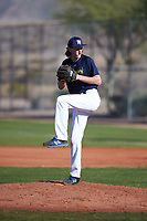 Kevin Bergstrom (53), from Fremont, California, while playing for the Padres during the Under Armour Baseball Factory Recruiting Classic at Red Mountain Baseball Complex on December 28, 2017 in Mesa, Arizona. (Zachary Lucy/Four Seam Images)