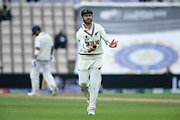 Kane Williamson, New Zealand returns the ball to the bowler during India vs New Zealand, ICC World Test Championship Final Cricket at The Hampshire Bowl on 19th June 2021