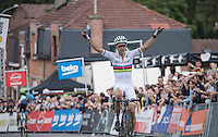 first race & first victory in the 2016/2017 season for World Champion Wout Van Aert (BEL/Crelan-Vastgoedservice)<br /> <br /> Brico-cross Geraardsbergen 2016<br /> U23 + Elite Mens race