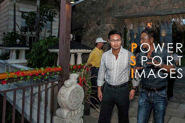 Mission Hills World Celebrity Pro-Am at the Haikou Mission Hills Resort on October 20, 2012, in China's province of Hainan. Celebrity participants include Oscar-winning actor Adrien Brody, Oscar-nominated actor Andy Garcia, Canadian film and television actor Ryan Reynolds, American actress Minka Kelly and Korea's top male movie star Jeong Woo-Seong. Photo by Xaume Olleros / The Power of Sport Images for Mission Hills