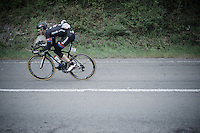 Warren Barguil (FRA/Giant-Alpecin) downhill<br /> <br /> 101th Liège-Bastogne-Liège 2015