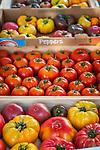 Fresh vegetables at the Summer Farmers Market in historic downtown Burlington, VT, USA
