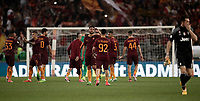Calcio, Serie A: Roma, stadio Olimpico, 14 maggio 2017.<br /> AS Roma's players celebrate after winning the Italian Serie A football match between AS Roma and Juventus at Rome's Olympic stadium, May 14, 2017.<br /> UPDATE IMAGES PRESS/Isabella Bonotto