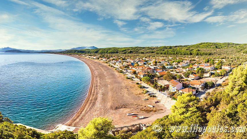The beach Agia Anna (Agali) in Evia island, Greece