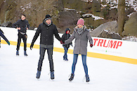 Surprise marriage proposal skating on Wollman Rink, Central Park