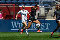 BRIDGEVIEW, IL - JUNE 5: Sarah Gorden #11 of the Chicago Red Stars plays the ball during a game between North Carolina Courage and Chicago Red Stars at SeatGeek Stadium on June 5, 2021 in Bridgeview, Illinois.