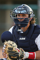 April 17, 2010: Jordan Comadena of the Lancaster JetHawks before game against the Rancho Cucamonga Quakes at Clear Channel Stadium in Lancaster,CA.  Photo by Larry Goren/Four Seam Images