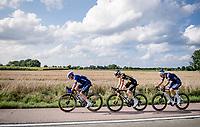 Yves Lampaert (BEL/Deceuninck - QuickStep), Pascal Eenkhoorn (NED/Jumbo-Visma) & Jonas Rickaert (BEL/Alpecin Fenix) on their way to the podium<br /> <br /> Heylen Vastgoed Heistse Pijl 2021 (BEL)<br /> One day race from Vosselaar to Heist-op-den-Berg (BEL/193km)<br /> <br /> ©kramon