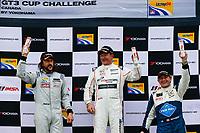 Porsche GT3 Cup Challenge Canada<br /> Victoria Day SpeedFest Weekend<br /> Canadian Tire Motorsport Park, Mosport, ON CAN<br /> Sunday 21 May 2017<br /> IMSA GT3 CUP CANADA, Race 2, Platinum Masters Podium<br /> World Copyright: Jake Galstad<br /> LAT Images<br /> ref: Digital Image galstad-CTMP-0517-55364