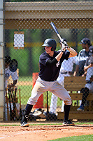FCL Yankees Ben Rice (45) bats during a game against the FCL Tigers West on July 31, 2021 at Tigertown in Lakeland, Florida.  (Mike Janes/Four Seam Images)