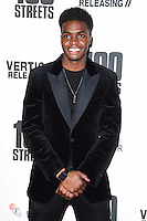 "Duayne Boachie<br /> at the ""100 Streets"" UK premiere, Bfi South Bank, London.<br /> <br /> <br /> ©Ash Knotek  D3195  08/11/2016"