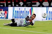 MEDELLÍN - COLOMBIA, 08-10-2021:Deportivo Independiente Medellín y el Envigado en partido por la fecha 13 como parte de la Liga BetPlay DIMAYOR II 2021 jugado en el estadio Atanasio Girardot  de la ciudad de Medellín. / Deportivo Independiente Medellin and Envigado in match for the date 13 as part of the BetPlay DIMAYOR League II 2021 played at Atanasio Girardot stadium in Medellin city. Photo: VizzorImage / Donaldo Zuluaga / Contribuidor