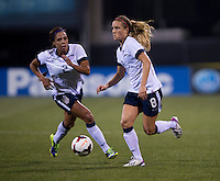 Sydney Leroux, Kristie Mewis. The USWNT tied New Zealand, 1-1, at an international friendly at Crew Stadium in Columbus, OH.