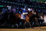 APRIL 30, 2021: Malathaat in the Post Parade before the Kentucky Oaks at Churchill Downs in Louisville, Kentucky on April 30, 2021. EversEclipse Sportswire/CSM
