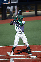 Gino Groover (23) of the Charlotte 49ers at bat against the Florida Atlantic Owls at Hayes Stadium on April 2, 2021 in Charlotte, North Carolina. The 49ers defeated the Owls 9-5. (Brian Westerholt/Four Seam Images)