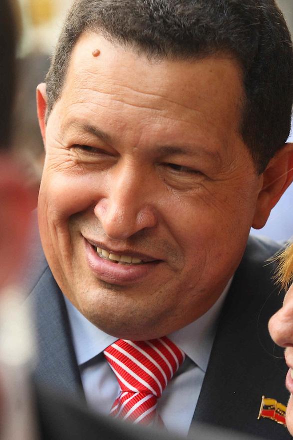 President of Venezuela Hugo Chavez in New York City  Trevor Collens / Photoshot