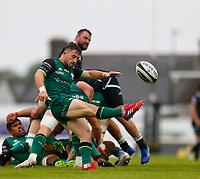 4th June 2021; Galway Sportsgrounds, Galway, Connacht, Ireland; Rainbow Cup Rugby, Connacht versus Ospreys; Caolin Blade kicks clear for Connacht