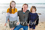 Enjoying a stroll in Banna on Tuesday, l to r:  Sarah, Benny and Emily Moss.