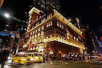 NOVA YORK, NY, 07.12.2018 - CARNEGIE-HALL - O Carnegie Hall é uma sala de espectáculos em Midtown Manhattan, na cidade de Nova Iorque, Construída a mando do filantropo Andrew Carnegie em 1890, é uma das mais famosas salas de espectáculos dos Estados Unidos para concertos de música clássica e popular, reconhecido pela sua beleza, história e acústica. (Foto: Vanessa Carvalho/Brazil Photo Press)