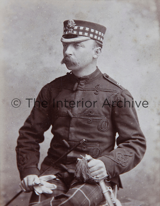 A Munro in tartan military dress
