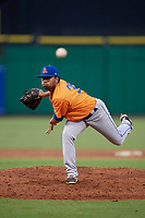 St. Lucie Mets relief pitcher Seth Davis (35) delivers a pitch during a game against the Clearwater Threshers on August 11, 2018 at Spectrum Field in Clearwater, Florida.  St. Lucie defeated Clearwater 11-0.  (Mike Janes/Four Seam Images)